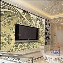 布纹欧式花纹背景墙
