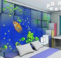 卡通儿童卧室背景墙