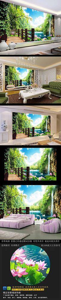 美丽风景画高清电视背景墙