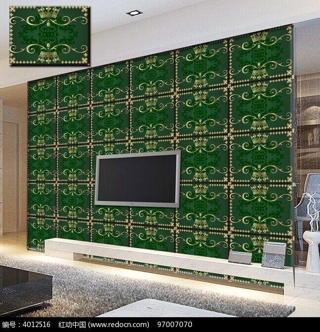 欧式浮雕花纹电视背景墙