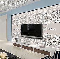 矢量浮雕花纹电视背景墙