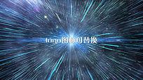 对称粒子光线碰撞爆发蓝色唯美AE模板