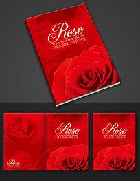 红色玫瑰画册封面设计