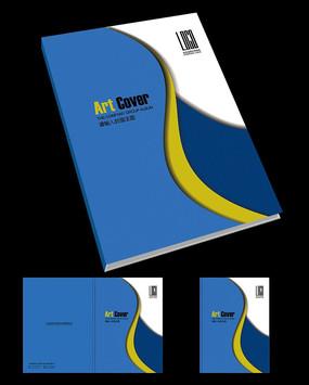 蓝色清爽画册封面设计 创意蓝色产品手册封面设计 现代蓝色创意宣传册图片