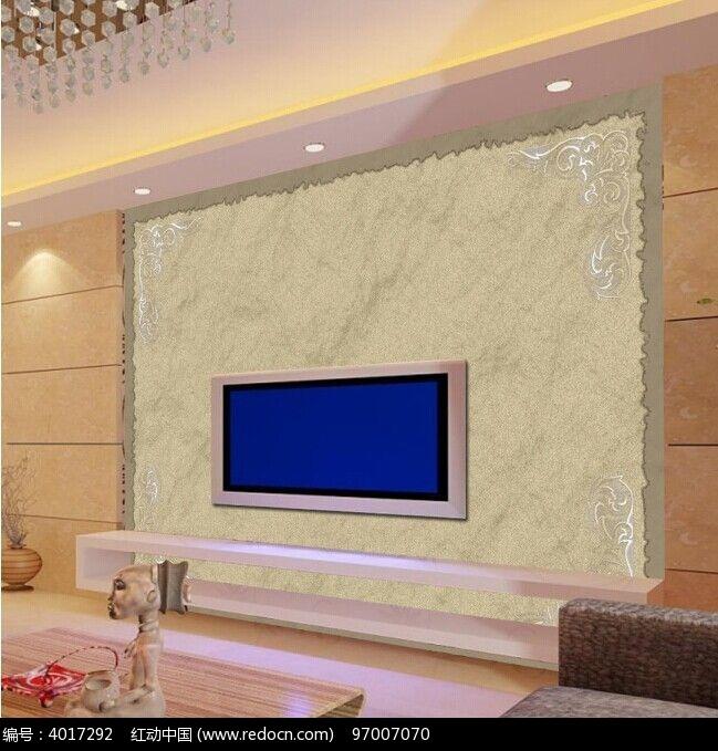 欧式大理石花纹电视背景墙