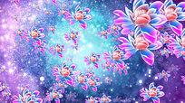 莲花动画LED大屏幕背景视频素材