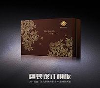 时尚花纹包装盒模版