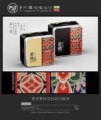 复古茶叶铁罐包装设计