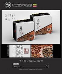 古典茶叶铁盒包装设计