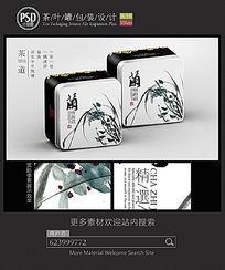 兰韵茶叶铁罐包装设计