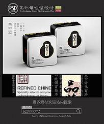 素雅茶叶铁罐设计