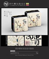 中国风茶叶罐包装设计 PSD