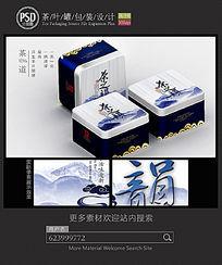 中国风茶叶铁罐包装