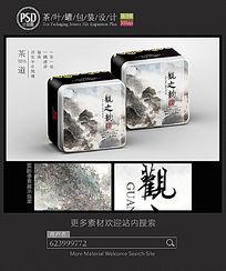 中国风茶叶铁盒包装设计