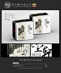 中国风茶叶铁盒子设计