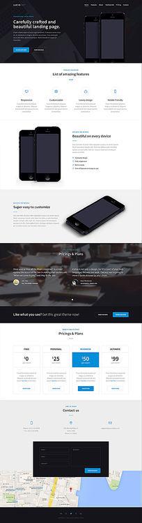 电子产品展示主页模板PSD PSD