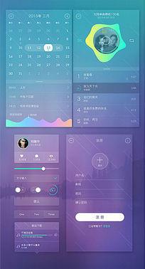 透明风格app界面设计