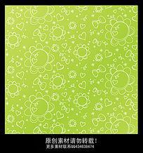 春天可爱手绘花纹墙纸设计