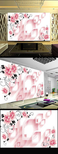 现代简约浪漫背景墙装饰画