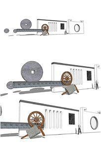 中式古典建筑景墙SU模型