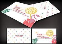 可爱甜品店名片设计