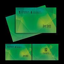 绿色科技公司名片设计