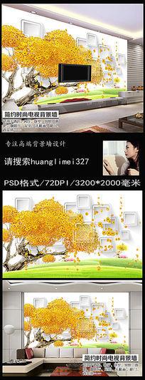 12款 梦幻抽象树电视背景墙模板下载背景墙