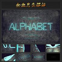 个性灯管logo宣传视频AE模板