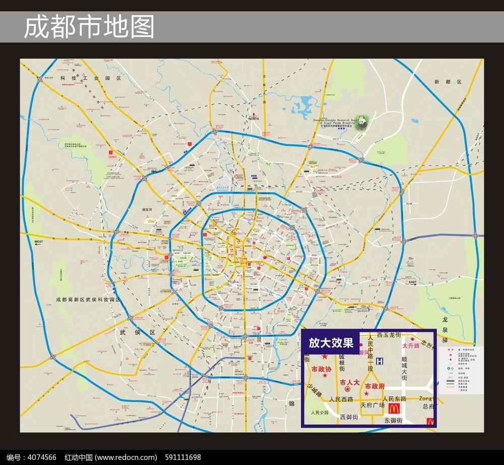 四川成都矢量地图