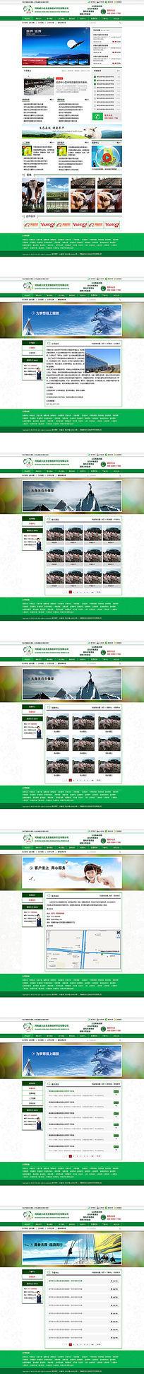 全套生物科技企业网站设计模板