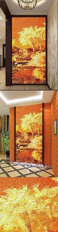 油画抽象画玄关背景