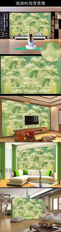玉雕苍松雄鹰客厅背景墙