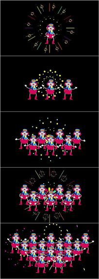 愚人节小丑跳舞搞笑视频