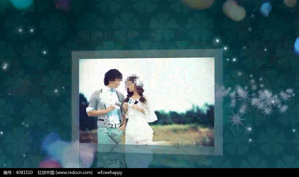 会声会影婚礼写真相册视频模板_视频素材\/片头