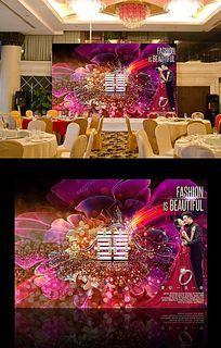 时尚欧式婚礼背景图设计