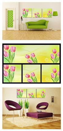 郁金香植物花卉无框画