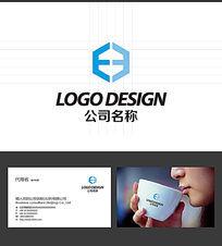 E字母建筑LOGO标志设计