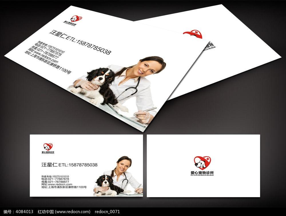 宠物医生名片设计图片