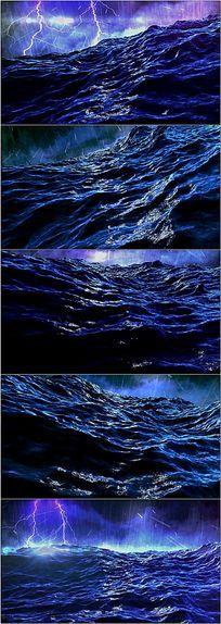 气势磅礴风雨交加大海视频