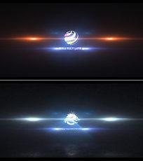 绚丽粒子logo演示视频ae模板