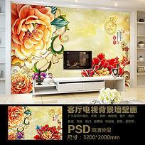 家和富贵中式电视背景墙