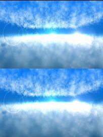蓝天浮动白云动态背景视频素材