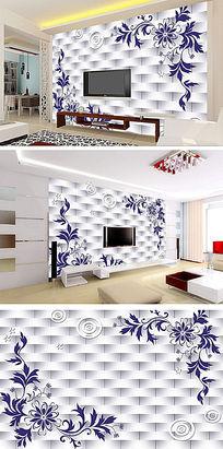 欧式立体银色瓷砖背景墙