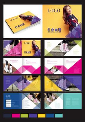时尚休闲女鞋画册模版