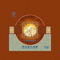 酒店中秋节月饼包装设计