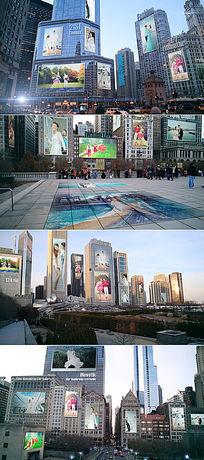 AE三维城市广告牌宣传动画模板