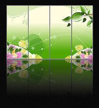 简洁花朵玻璃移门图案