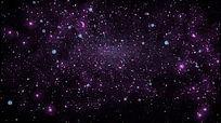 粒子爆散暗黑发光粒子飞舞散开高清动态视频素材