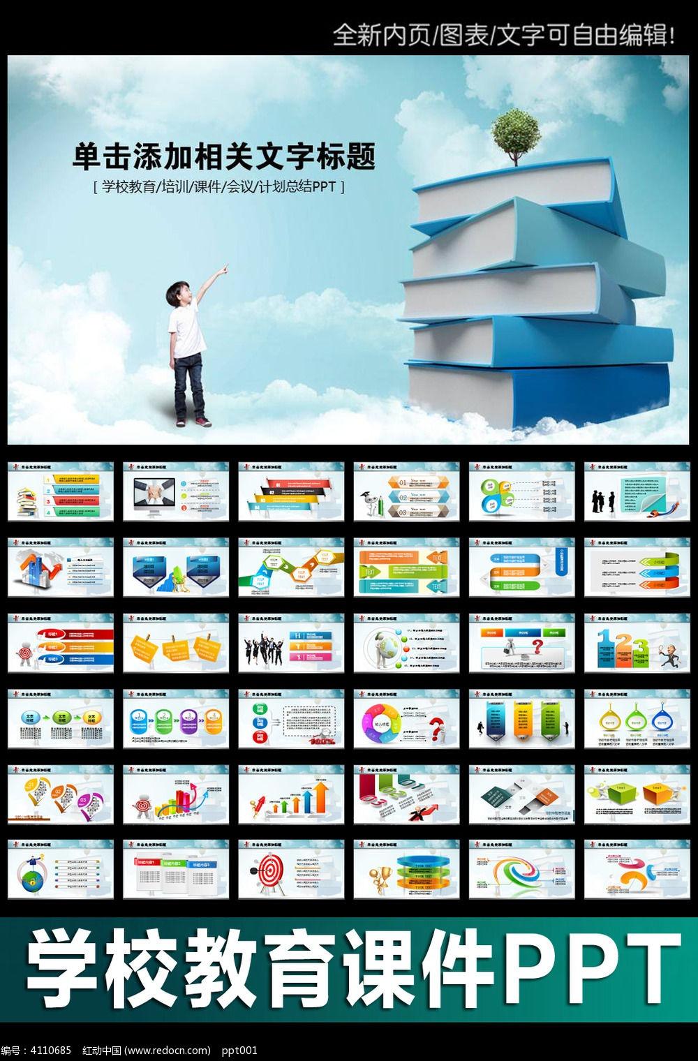 8款 读书报告ppt模板素材下载