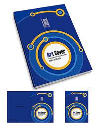 蓝色网络电子科技画册封面